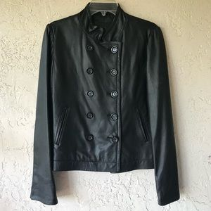 Vince lamb soft  leather doble breasted jacket M